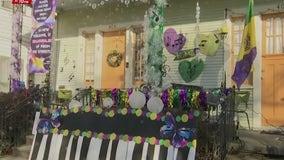 Goodbye Mardi Gras parade floats, hello house floats