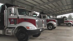 County crews are gearing up to take on icy roads