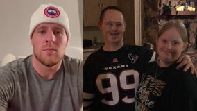JJ Watt sends special video to fan with Down Syndrome who lost wife to COVID-19