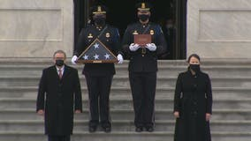 Fallen Capitol police officer Brian Sicknick honored during ceremony at US Capitol