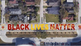 Black Lives Matter mural dedicated in Houston