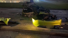 Deadly crash on Barker Cypress shuts down traffic, leaves car in pieces