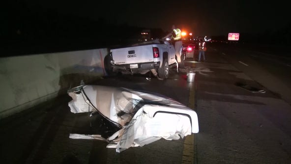 Mother dies after wheel flies into windshield on I-69 in New Caney