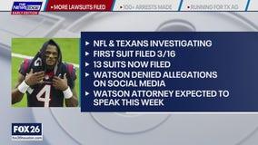 More lawsuits filed against Texans QB Deshaun Watson