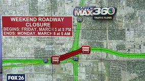 Southwest Freeway closed in Houston this weekend at I-610 West Loop