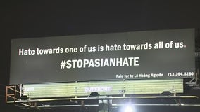 Local business owner raising awareness to stop Asian hate by using billboard