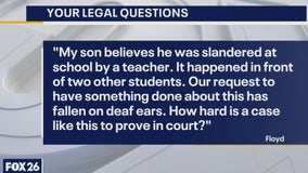 Your Legal Questions: Slandered by teacher; child support and custody