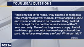 Your Legal Questions: Alimony; car repair; cell phone plan
