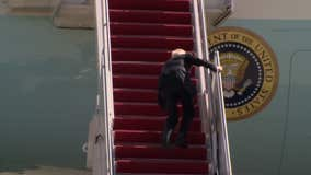 VIDEO:  Biden stumbles multiple times, falls as he boards Air Force One