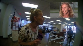 Woman speaks to FOX 26 after refusing to wear mask at Galveston bank, detained by police