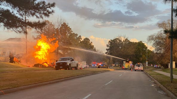 Multiple injured in gas line explosion in northwest Harris County; crews battle fire