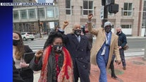 Congresswoman Sheila Jackson Lee marches in Minnesota ahead of Chauvin trial closing arguments