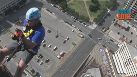 How would you like to repel from the roof of a Houston hotel?