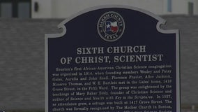 Historical marker only thing still standing after Third Ward church was torn down