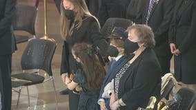 Wife, children of fallen USCP officer William 'Billy' Evans mourn loss at U.S. Capitol Rotunda