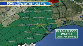 Flash Flood Watch for entire Houston area until Sunday morning