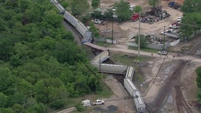 Union Pacific train derails on Houston's East Side, no injuries reported