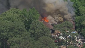 1 injured in large fire in South Montgomery County