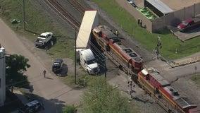 Train crashes into 18-wheeler in NW Houston