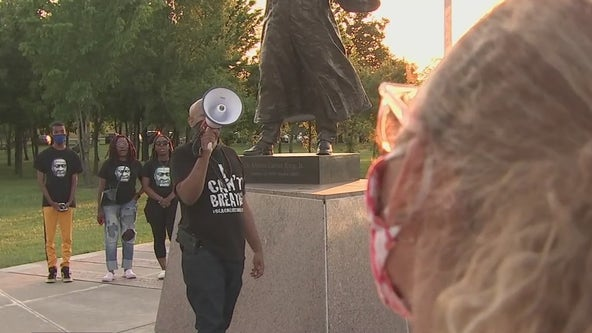 Residents attend vigil for George Floyd at McGregor Park