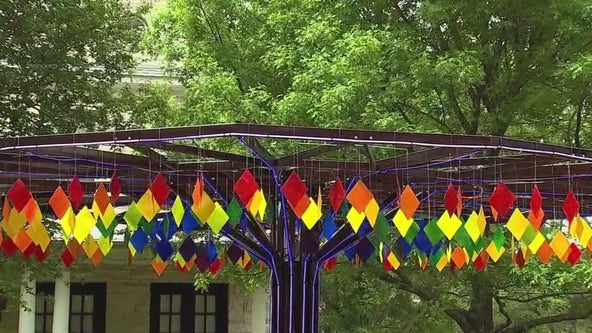 Houston-area man install 'Burning Man' art outside Bellaire home