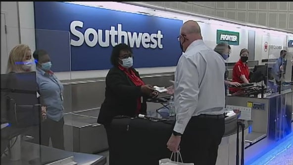 Southwest Airlines resumes flights at Bush Airport in Houston