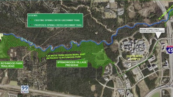 Spring Creek Greenway to one day stretch from Kingwood to Tomball