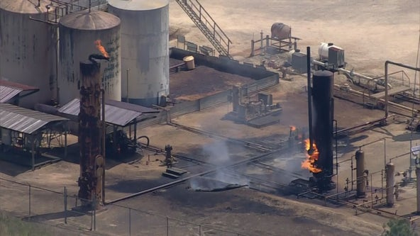 Industrial fire near Magnolia is 'contained' and 'under control', officials say
