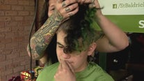 Shaving heads to help raise money for cancer research