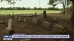 Thirty-three unmarked graves detected in Pledger