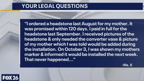 Your Legal Questions: Property sale; headstone