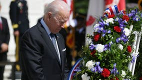Biden attends Memorial Day wreath-laying ceremony, pays tribute to fallen soldiers