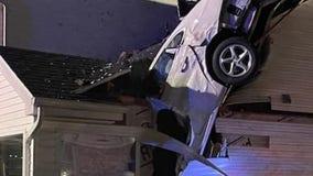 Car crashes through bedroom, narrowly missing sleeping homeowners