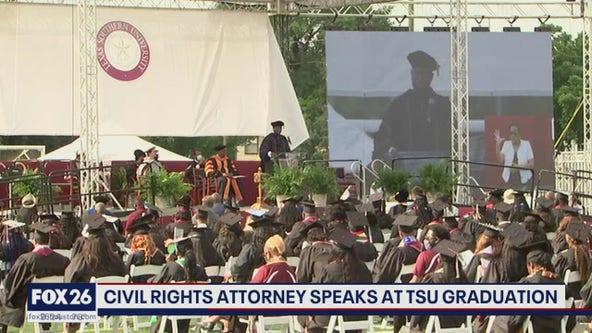 Ben Crump, George Floyd family speak on graduation day