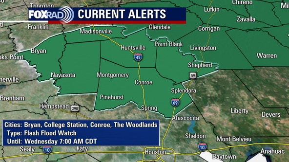 Severe Thunderstorm Watch canceled for counties north of Houston