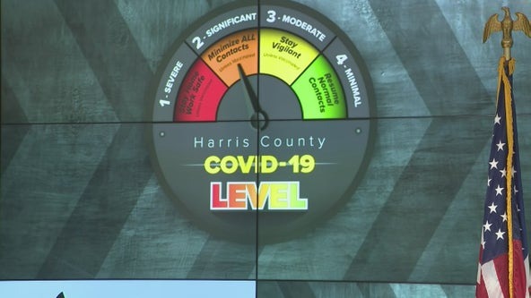 Harris County Judge Lina Hidalgo lowers COVID-19 threat level