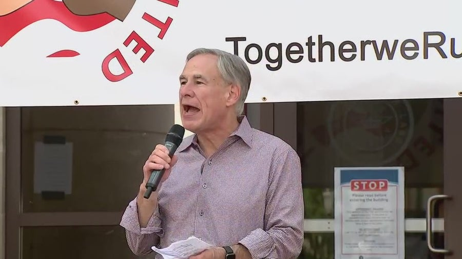 Gov. Greg Abbott speaks at Anti-Asian Hate Rally in Sugar Land