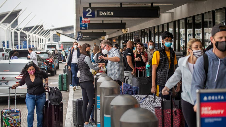 Memorial Day weekend travelers at LAX