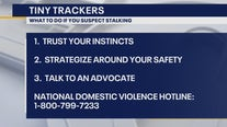 Warning about tracking devices