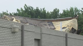 Strong, fast moving storm causes damage to chiropractic clinic in Deer Park