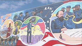 Artist commemorates Juneteenth with mural in Galveston