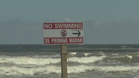 The disturbance in the Gulf is causing dangerous rip currents in Galveston