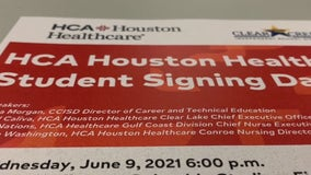 Nearly 40 Clear Creek ISD students secure post graduation jobs with HCA Houston Healthcare