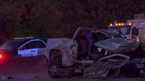 HPD: Driver ejected from pickup truck during crash with speeding car
