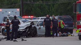 1 person killed, teen taken via helicopter following major crash in front of high school