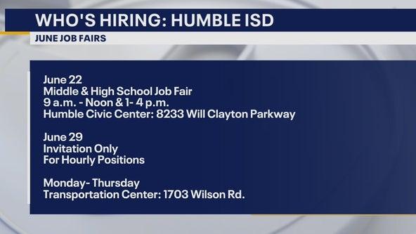 Who's hiring: Humble ISD hosting job fairs
