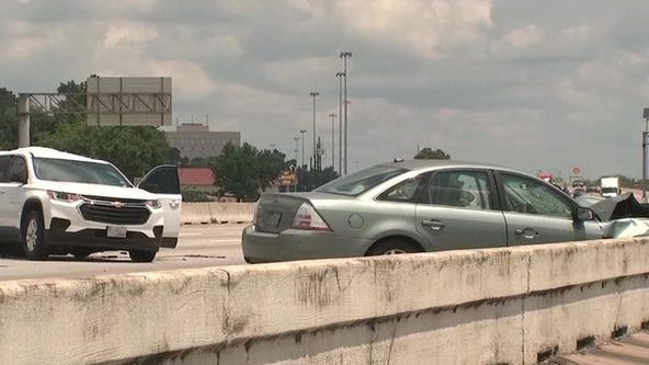Child dies, another injured in crash after pallet falls onto Eastex Freeway