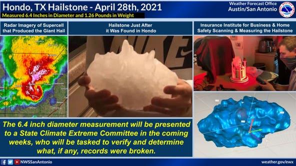 Hondo hailstone sets new Texas state record