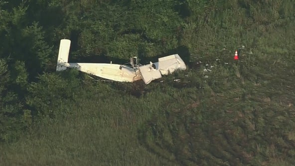 1 dead, 5 injured after plane crashes near runway in Madisonville