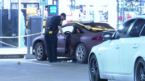 Man wounded after several rounds fired at NE Houston gas station